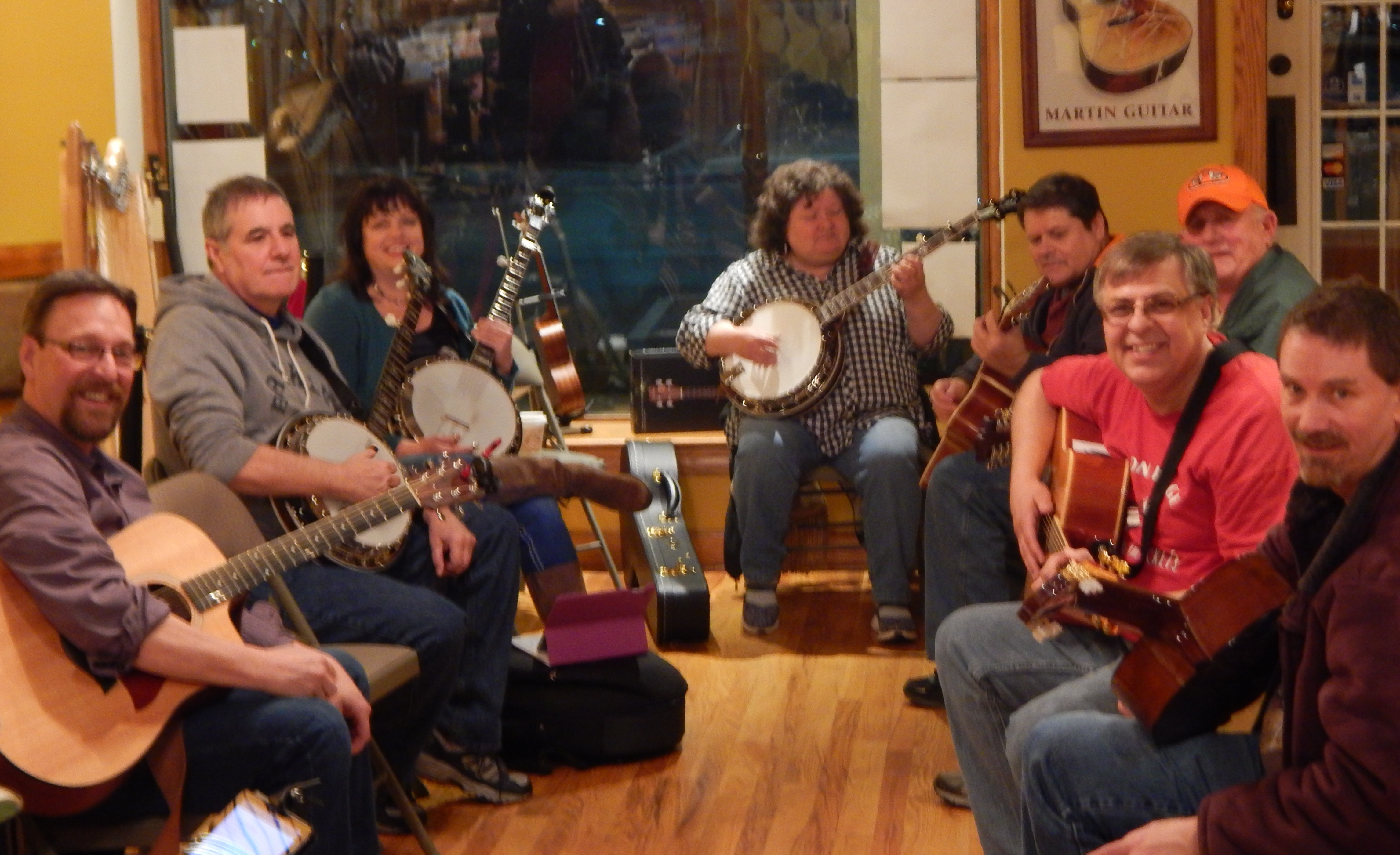 Bluegrass Jam Circles