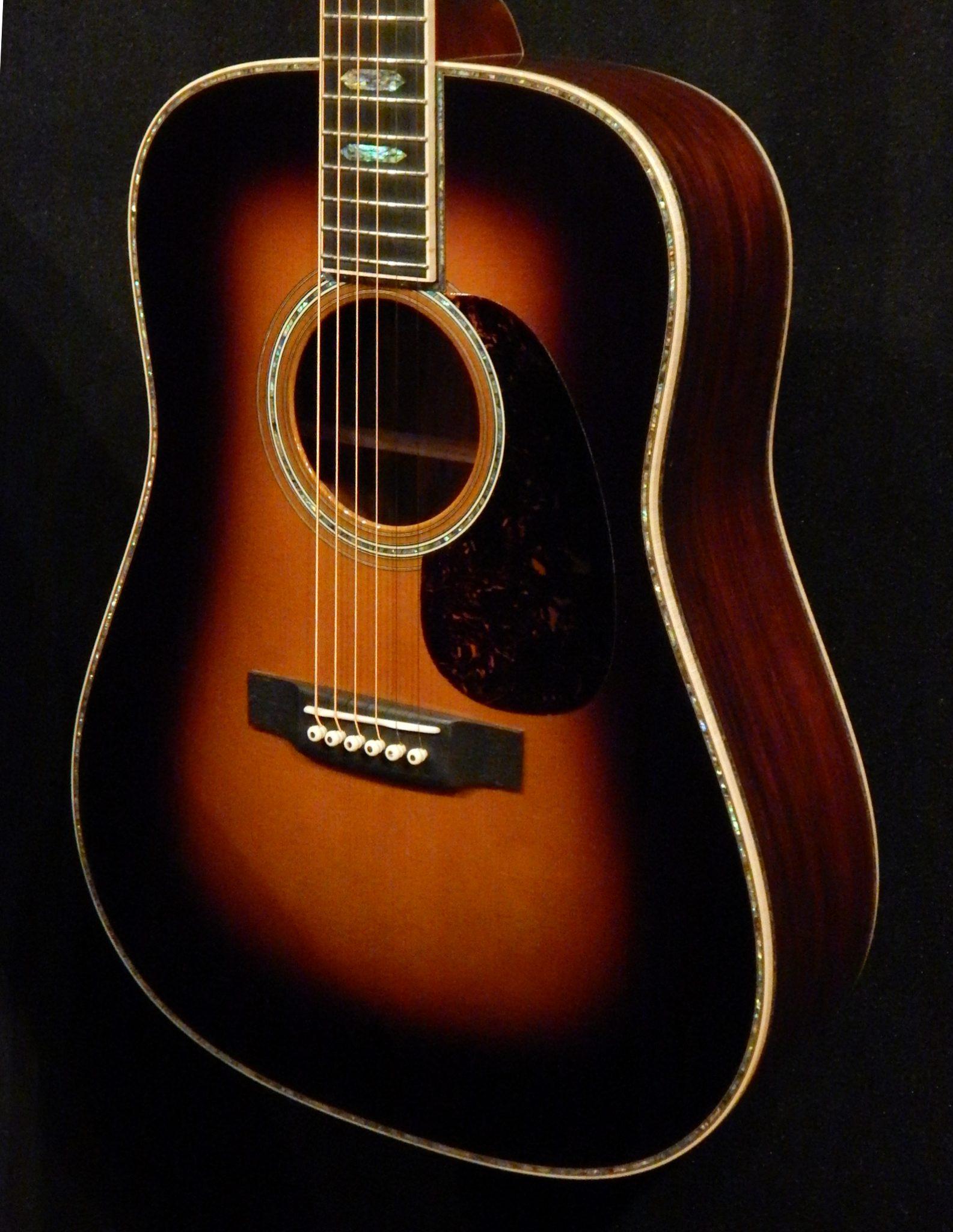 martin d 45 custom guatemalan rosewood and adirondack sunburst down home guitars. Black Bedroom Furniture Sets. Home Design Ideas