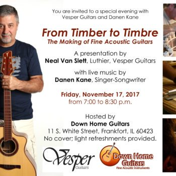 Vesper Guitar Clinic Fri. Nov. 17th 7pm- Free