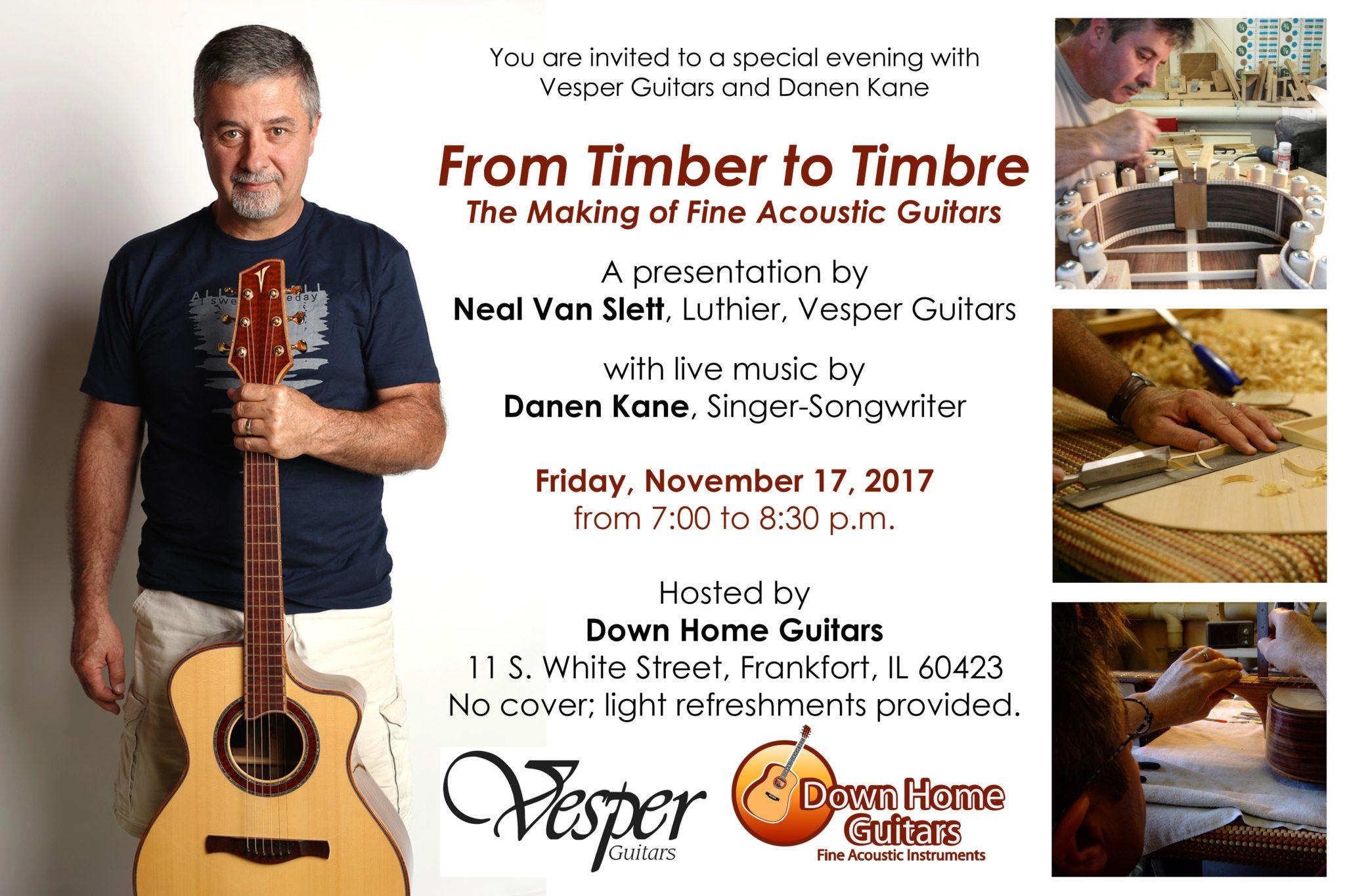 Vesper Guitar Clinic Fri. Nov. 17th 7pm- Free