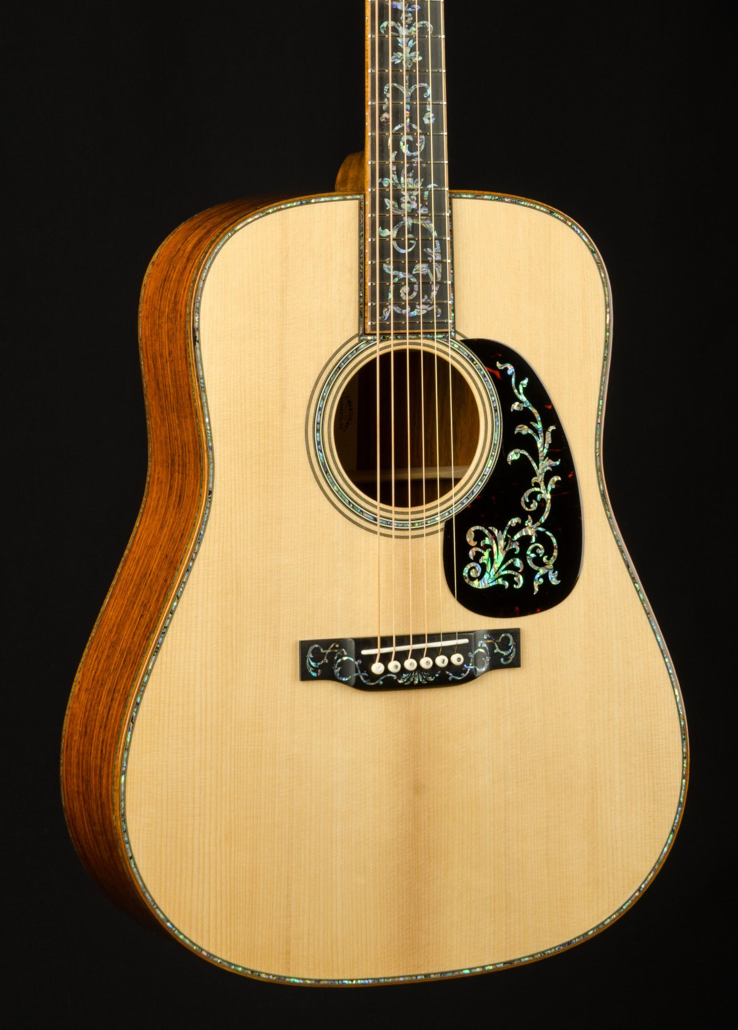 martin d 45 custom tree of life cocobolo and adirondack vts with paua pearl down home guitars. Black Bedroom Furniture Sets. Home Design Ideas