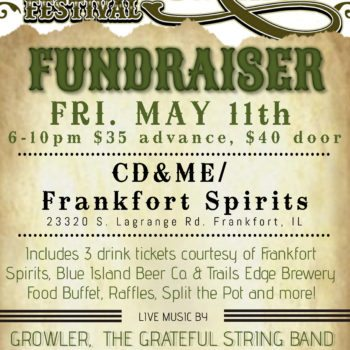 Fundraiser for Frankfort Bluegrass Fest Fri. May 11th at CD&ME/ Frankfort Spirits