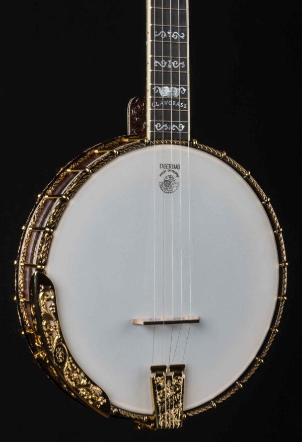 Deering Clawgrass Open Back 5 String Banjo with 24 Karat Gold Plating