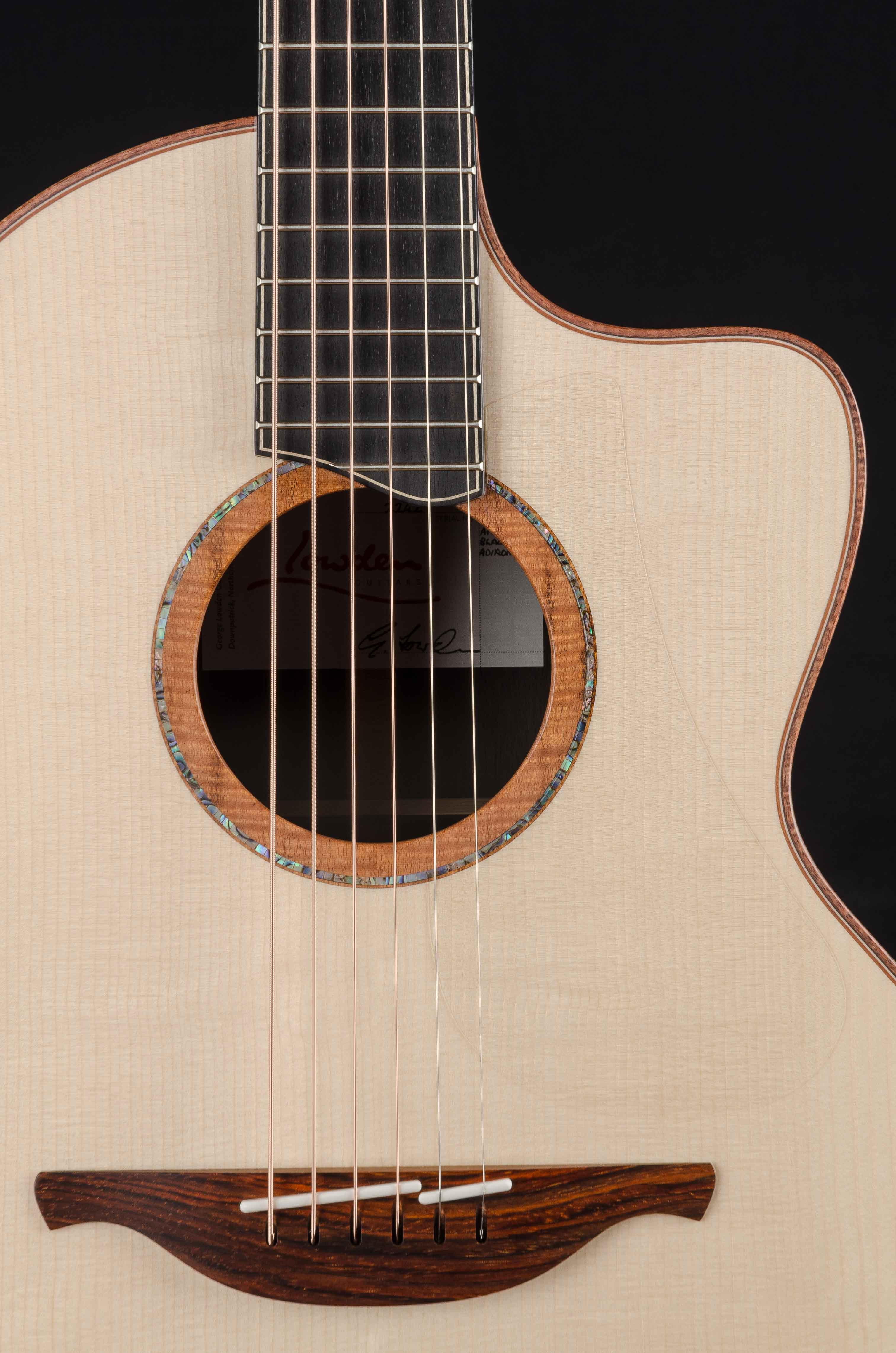 Lowden S-50C African Blackwood and Adirondack with Bevel